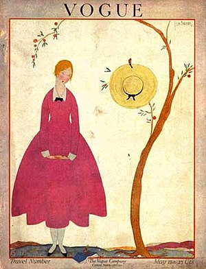 Vogue magazine cover, May 1917