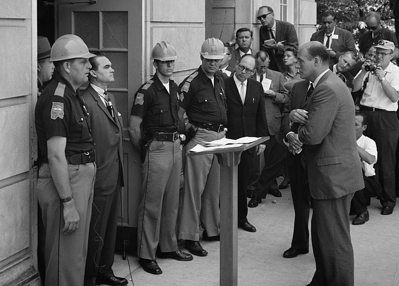 Gov. George Wallace attempts to block black students from entering University of Alabama