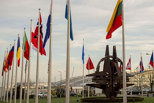 160211-D-DT527-007 NATO country flags wave at the entrance of NATO headquarters in Brussels 2016