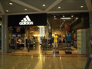 Adidas store in Tel Aviv, Israel.