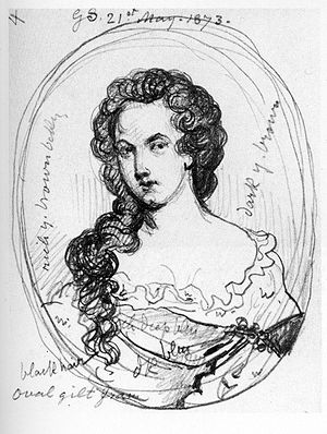 A sketch of Aphra Behn by George Scharf from a...