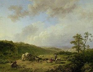 Barend Cornelis Koekkoek - Landschap bij opkom...