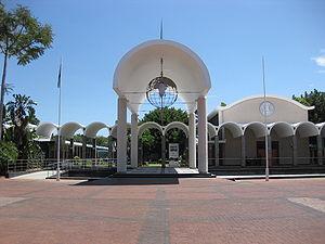 English: House of the Parliament of Botswana i...