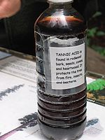 A bottle of tannic acid.
