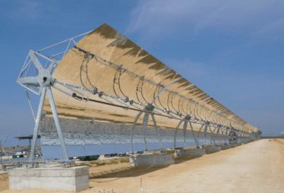 Central solar de cilindros parabólicos