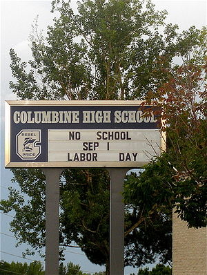 Columbine High School in Columbine, Colorado.