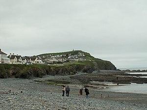Craig yr Wylfa, Borth. The rocks at the southe...