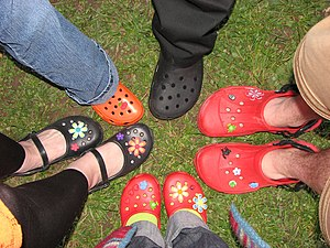 Crocs with accessories
