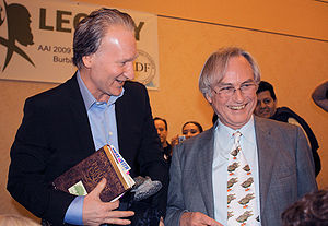 Bill Maher and Richard Dawkins after Maher's t...