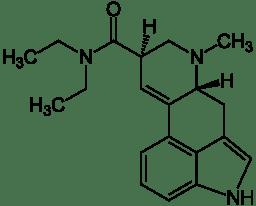 Strukturformel von LSD