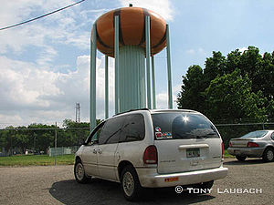English: The Circleville Water Tower, one of t...
