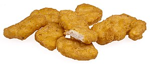 A pile of McDonalds Chicken McNuggets, as boug...