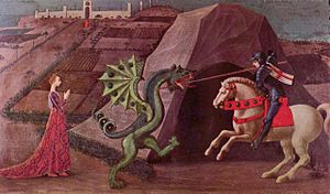 Paolo Uccello's depiction of Saint George and ...