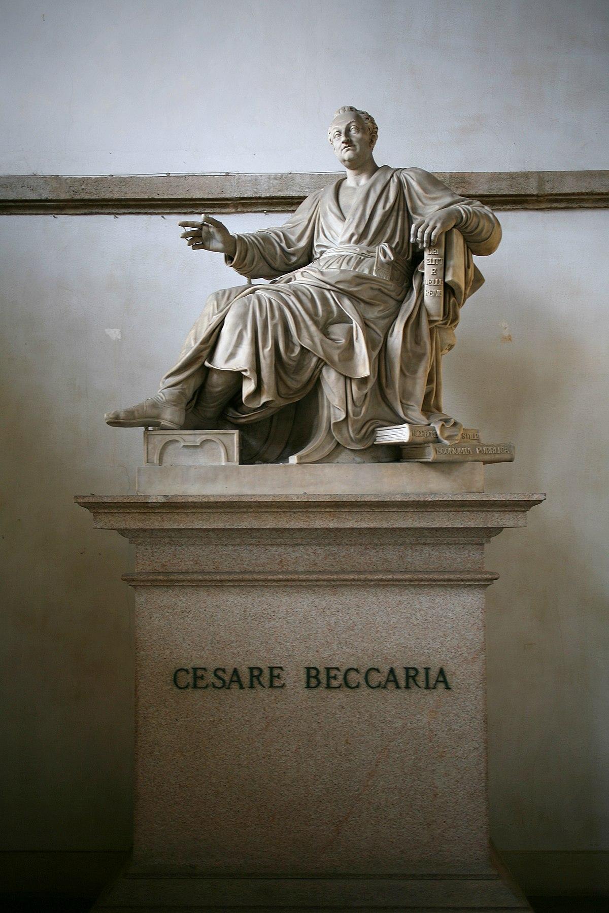 Monumento a Cesare Beccaria 1837  Wikipedia