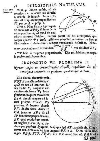 A page from the 1726 edition of the Principia.