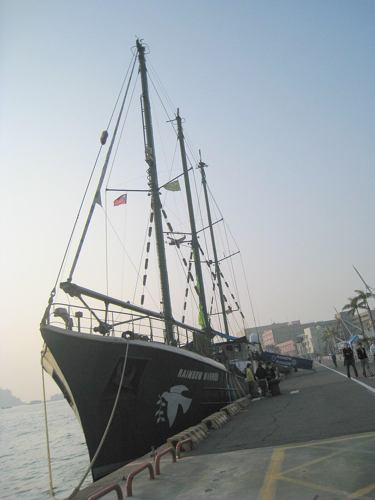 綠色和平組織「彩虹勇士號」航抵高雄港 - 維基新聞,自由的新聞源