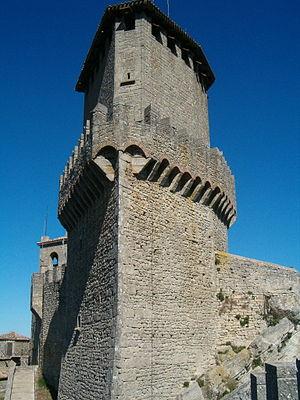 English: Tower of San Marino Castle, Republic ...