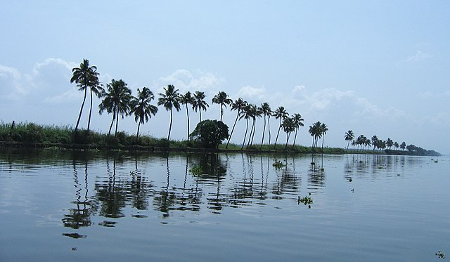 Vembanad lake in Kerala