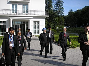 Indian Prime Minister Manmohan Singh at the G8...