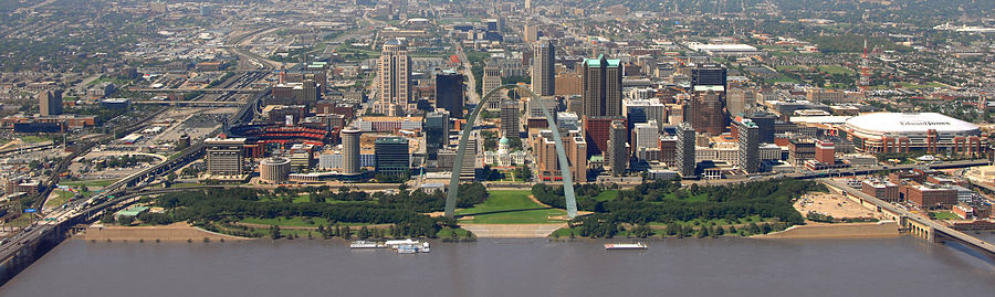 skyline with arch st. louis