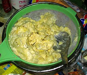 Tempoyak, made from fermented durian