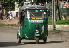 English: Auto rickshaw in Polonnaruwa, Sri Lan...