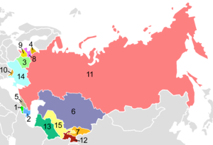 Post-Soviet states in alphabetical order: 1. A...