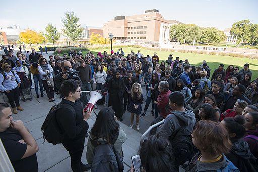 University of Minnesota students protest hate speech (30122075146)