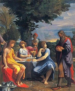 Three angels visiting Abraham