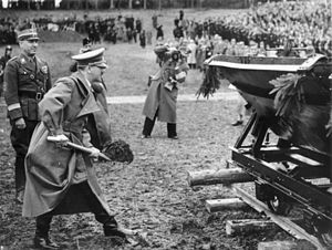 7 April 1938: Hitler turns the first sod at Wa...