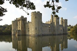Bodiam Castle in Sussex UK