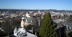 Downtown Bellingham as observed from Sehome Hi...