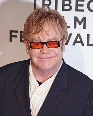 Elton John attending the premiere of The Union...
