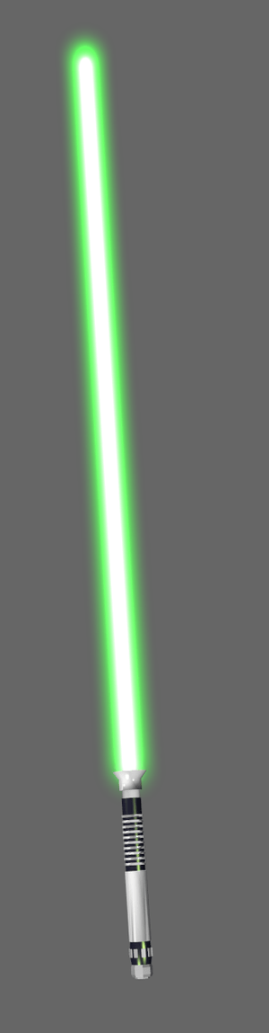 A green lightsaber.