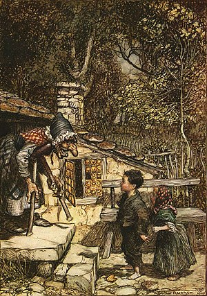 Arthur Rackham, illustration to Hansel and Gretel