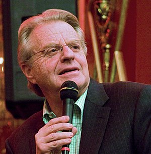 English: Jerry Springer at a Hudson Union Soci...