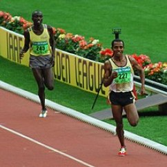 Track And Field Diagram Class For Hospital Management System Wikipedia Kenenisa Bekele Leading In A Long Distance Event