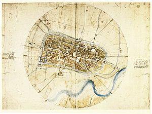 Town plan of Imola