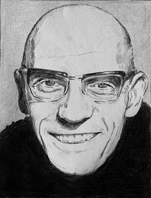 Retrato del filósofo francés Michel Foucault