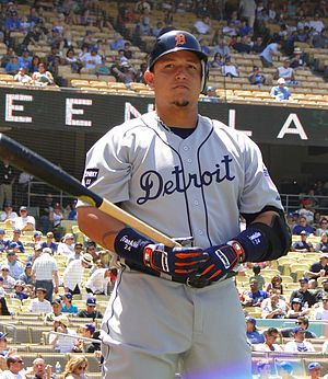 English: Miguel Cabrera at Dodger Stadium.