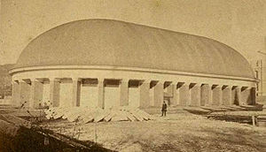 The Salt Lake Tabernacle, home of the Mormon T...