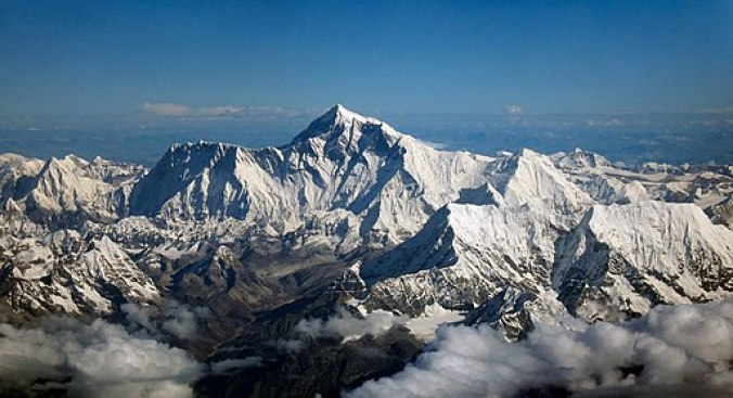 Mount Everest as seen from Drukair2 PLW edit