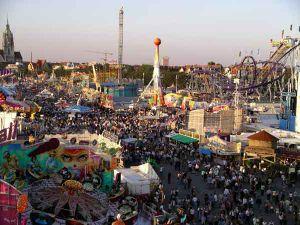 The Oktoberfest in Munich from Ferris wheel