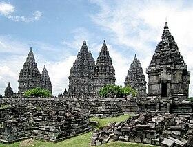 Vue du site de Prambanan