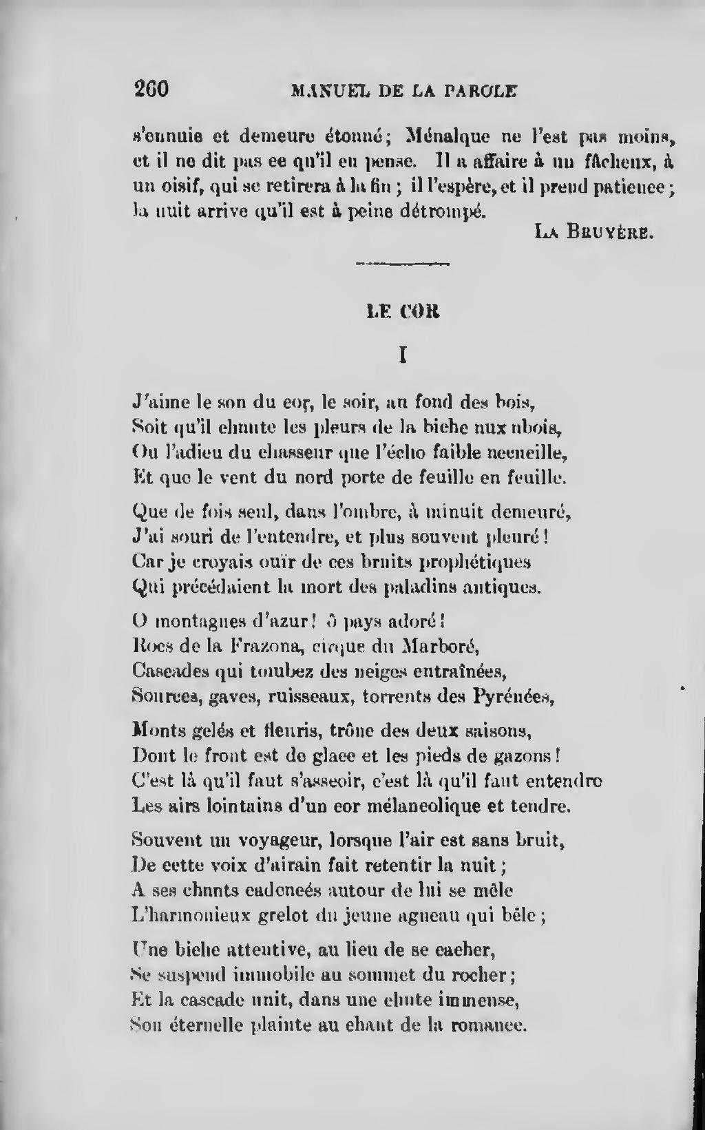 J'aime Le Son Du Cor Le Soir Au Fond Des Bois : j'aime, Page:Rivard, Manuel, Parole,, Traité, Prononciation,, 1901.djvu/270, Wikisource