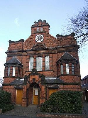 English: Salem Church Methodist church erected...