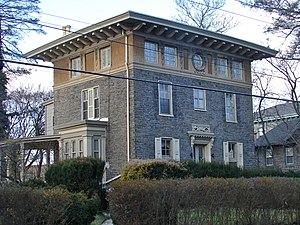 English: Sam Austin House in Chestnut Hill His...