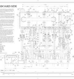 file top view of engine bottom of cylinder block steam schooner wapama kaiser shipyard no 3 shoal point richmond contra costa county  [ 1280 x 989 Pixel ]