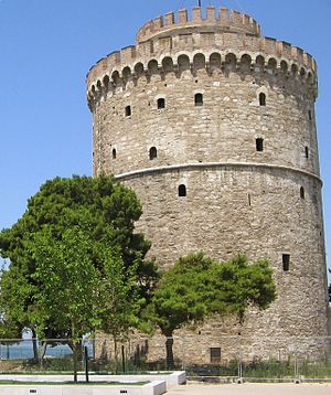 The White Tower of Thessaloniki in Thessalonik...