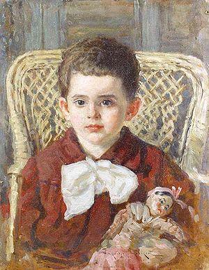 Boy with a doll, 1922